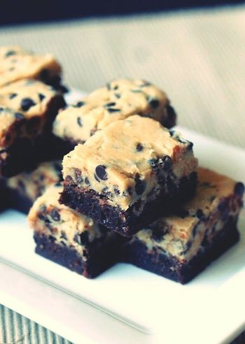 I definitely want to try this. Cookiedoughbrownies Looksyummy