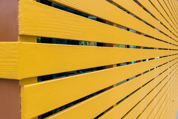 Full frame shot of yellow structure