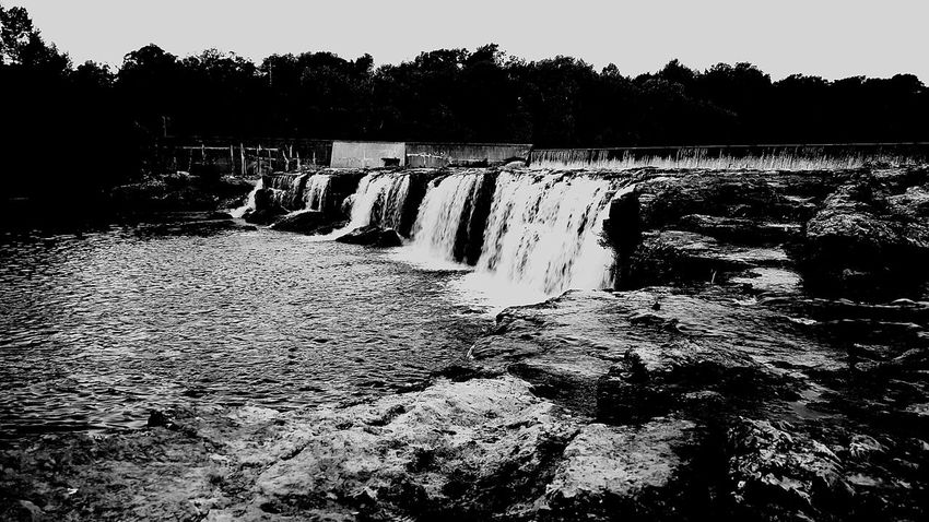 My Favorite Place Water Waterfall Tree Motion Long Exposure Flowing Water Nature Beauty In Nature Flowing Growth River Day Outdoors Sky Power In Nature Tranquil Scene Rivers Check This Out Waterporn Calm Nature River Collection Creekside Photography Blackandwhite Photography