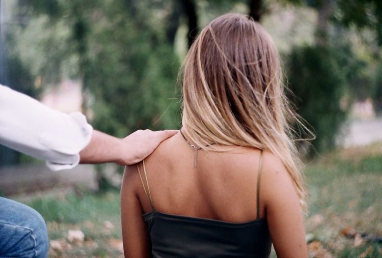 Rear View Two People Togetherness Adult Day Young Women People Leisure Activity Long Hair Adults Only Women Human Body Part Outdoors Young Adult Human Back Friendship Blond Hair Bonding Nature Back Love Film Film Photography Portrait The Week On EyeEm Second Acts Press For Progress