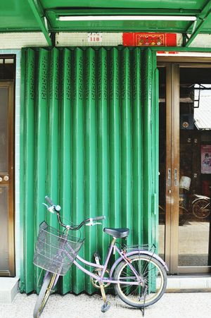 Door Built Structure No People Architecture Building Exterior Outdoors Hanging Day Bicycle Tai O 大澳 Hong Kong Green Gate where is joker?