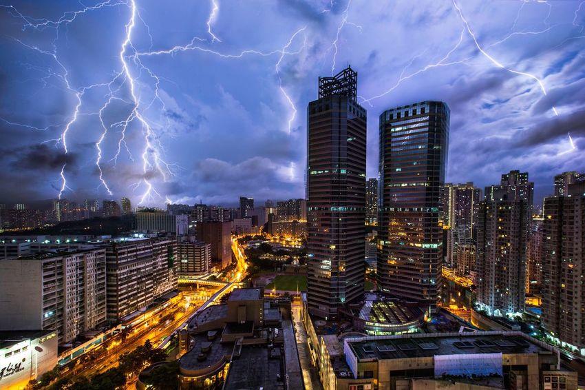 Photography Cityscapes Night HongKong