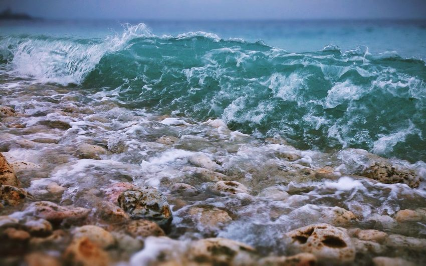 Hersones Sevastopol  Sea Waves Beach Winter Crimea Russia IPhone5 VSCO