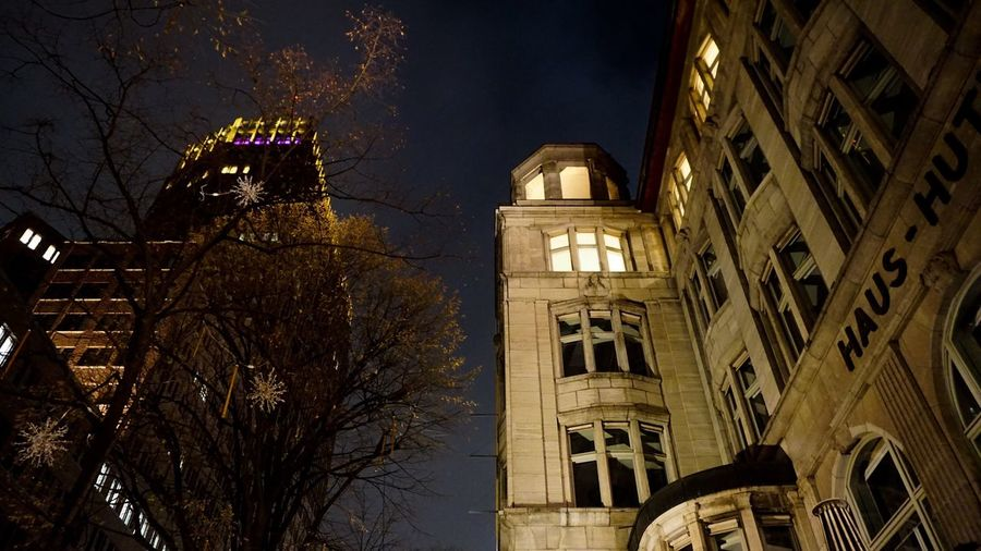 Berlin Photography Berliner Ansichten Berlin Built Structure Night Architecture Building Exterior Illuminated Low Angle View Building No People Sky Decoration Christmas Outdoors Tree City Nature