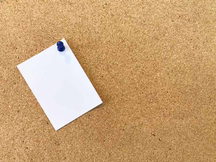Blank white paper pin on cork board background for remind. Presenting a reminder concept Working in office Cork Board Pink Color Reminder White Paper Working In Office