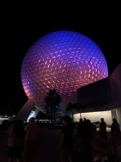 Epcot Night Illuminated Lighting Equipment Arts Culture And Entertainment Architecture Technology Indoors