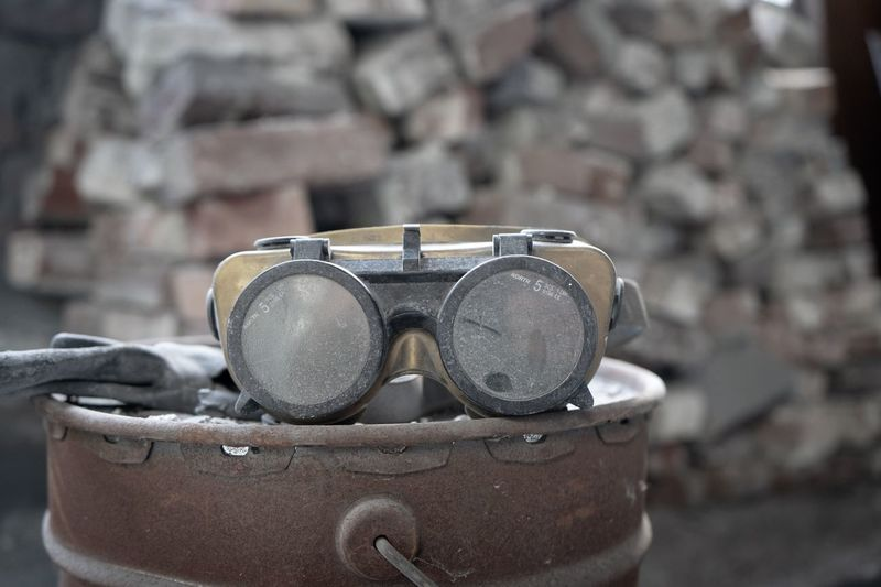 Goggles Rusty Dust Goggles Abandoned Buildings Factory Bricks Industrial Industry Abandoned EyeEmNewHere Focus On Foreground Close-up Day Still Life No People Outdoors Glasses Metal Old EyeEmNewHere