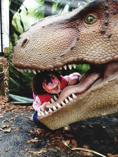Bristol, England Bristol Zoo T Rex  Girl Check This Out Taking Photos Enjoying Life United Kingdom Fun Fun Times