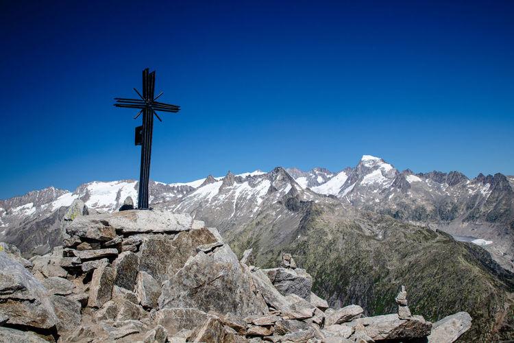 Sidelhorn, oberaare glacier over grimsel pass on the swiss alps