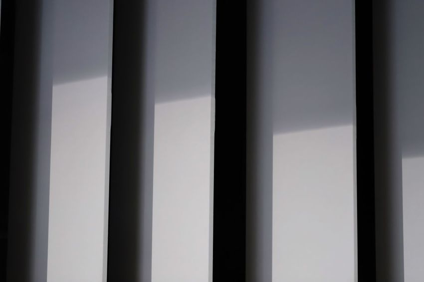 Light and shadow patterns Full Frame Pattern Backgrounds No People Indoors  Close-up Built Structure Repetition Architecture Side By Side Design Shadow Day Wall - Building Feature Window Blinds Sunlight Textured  White Color In A Row