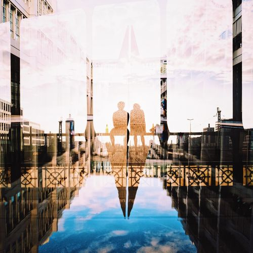 The Week On EyeEm Built Structure Symmetry Architecture Reflection Real People City People Sebastianriegerphotos Streetphotography Double Exposure