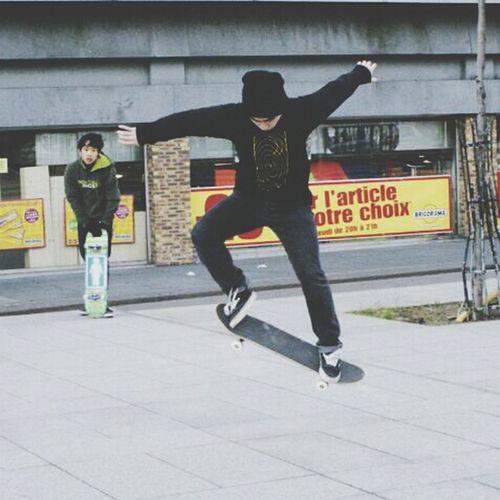 Minh Skate Taking Photos Skateboard Paris by Supermonkeyfly