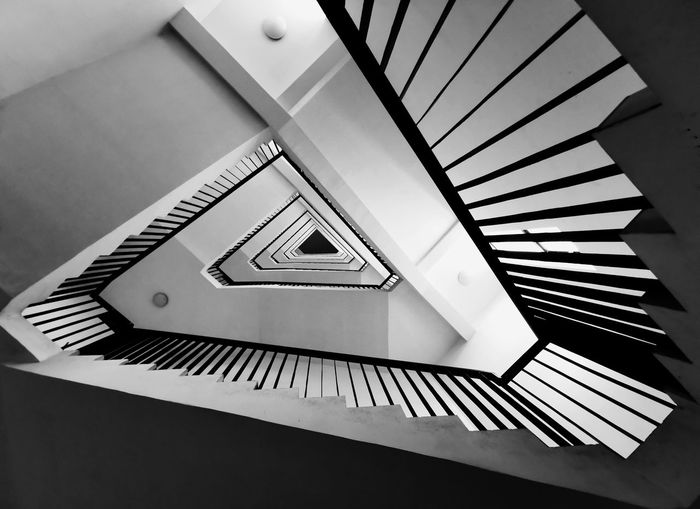 Spiral Staircase Indoors  Architecture Steps And Staircases Railing No People