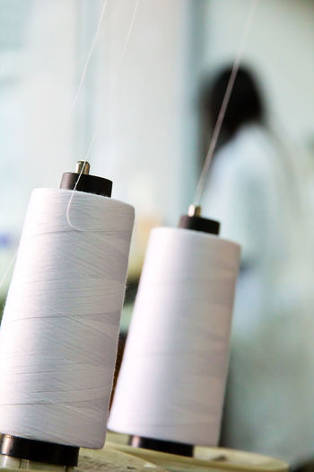Textile industry Fabric Texture Idustrial Industry Textile Machinery Textile Industry Close-up Clothes Cotton Day Fabric Detail Factory Factory Photo Focus On Foreground Hanging Indoors  No People Textile Factory