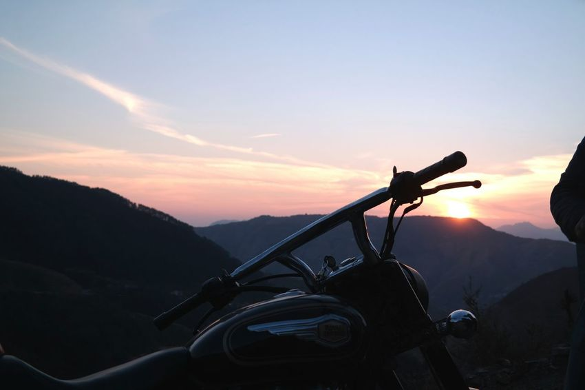 Evening rides Sunset Mountain Silhouette Landscape Beauty In Nature Eyeemoninsta EyeEm Gallery Royal Enfield Motorcycle Bike Ride Motorcycle Photography Sunset Evening EyeEm Masterclass Sunset Silhouettes Sunset_collection Shootermag The Great Outdoors - 2017 EyeEm Awards EyeEm First Photo in Chakrata , Uttrakhand , India Connected By Travel Colour Your Horizn Summer Exploratorium The Traveler - 2018 EyeEm Awards Summer Road Tripping