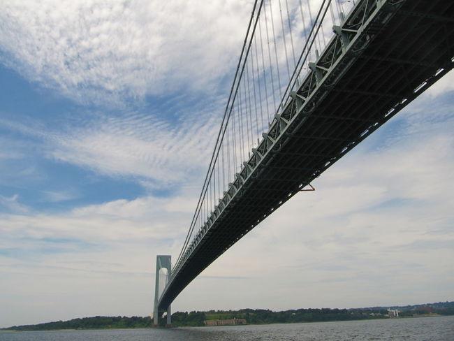 Architecture Bridge - Man Made Structure Built Structure Cloud - Sky Connection Day Low Angle View Nature No People Outdoors River Sky Suspension Bridge Transportation Travel Destinations