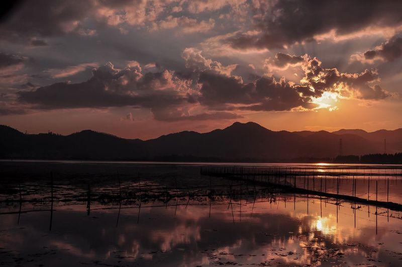 滇池 Sunset Water