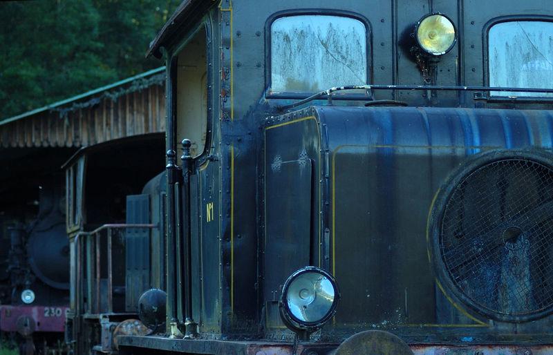 Château Collection Locomotive Metallic Mode Of Transport No People Parc Puisaye Saint-fargeau Train