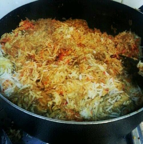 Asian Food Pakistani Food Chicken-Biryani Cooking :p