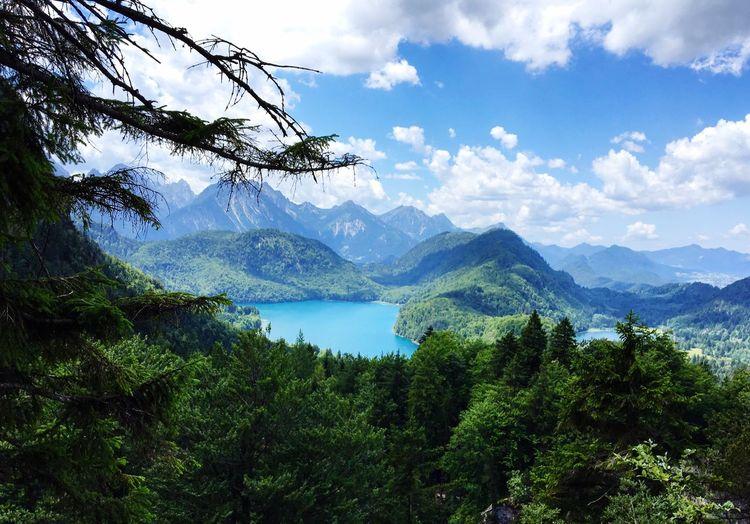 Neuschwanstein Castle Germany Mountain Nature Weekend Wonderland Beauty In Nature Sky Colorful Landscape