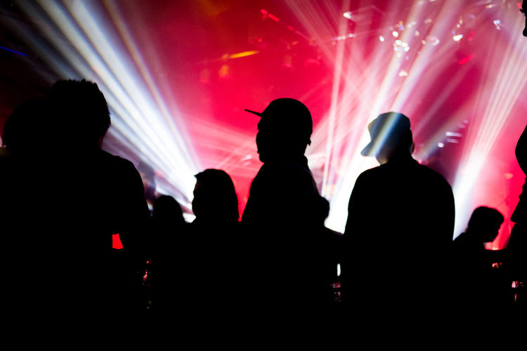 Concert Enjoyment Glowing Music Neon Neonlights Party Shillouette