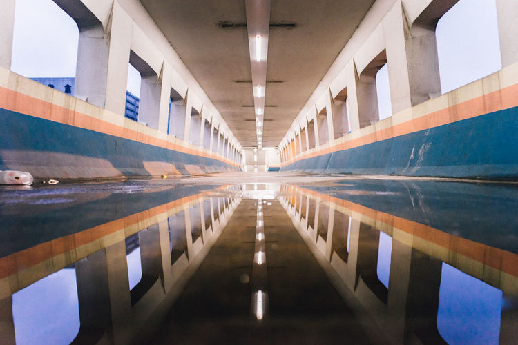 Architectural Detail Architecture Architecturelovers Built Structure Hk Hong Kong Illuminated Minimalist Minimalobsession No People One Point Perspective Perspective Point Of View POV Reflection Reflection Reflection_collection Reflections In The Water Water Miles Away The Architect - 2017 EyeEm Awards