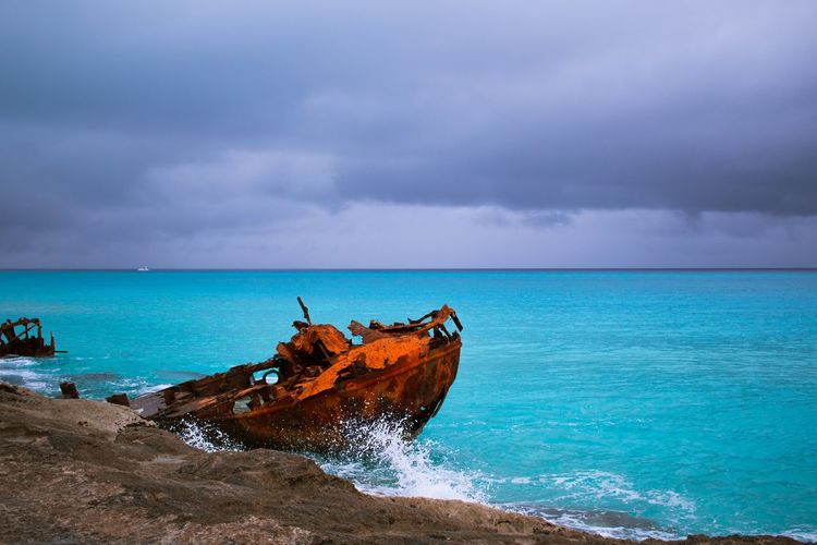 Bahamas Beach Beauty In Nature Cloud - Sky Day Horizon Horizon Over Water Land Motion Nature Nautical Vessel No People Outdoors Overcast Scenics - Nature Sea Sea And Sky Sky Storm Storm Cloud Tranquil Scene Turquoise Colored Water Summer Exploratorium Summer Exploratorium