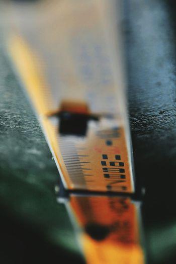 Water Level Gauge Measurement Depth Gauge Water Level Indicator Lacamas Lake Washington State Close-up