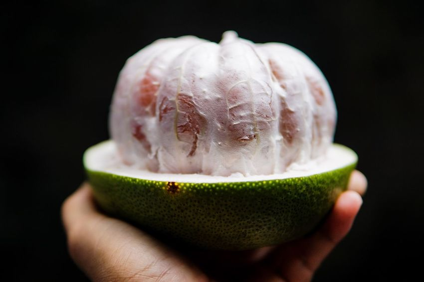 Pomelo Holding Food And Drink Freshness Food Focus On Foreground Fruit Healthy Eating