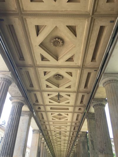 Architecture Built Structure Ceiling Indoors  Architectural Column No People Low Angle View Day Underneath Berlin Museum Island Berlin