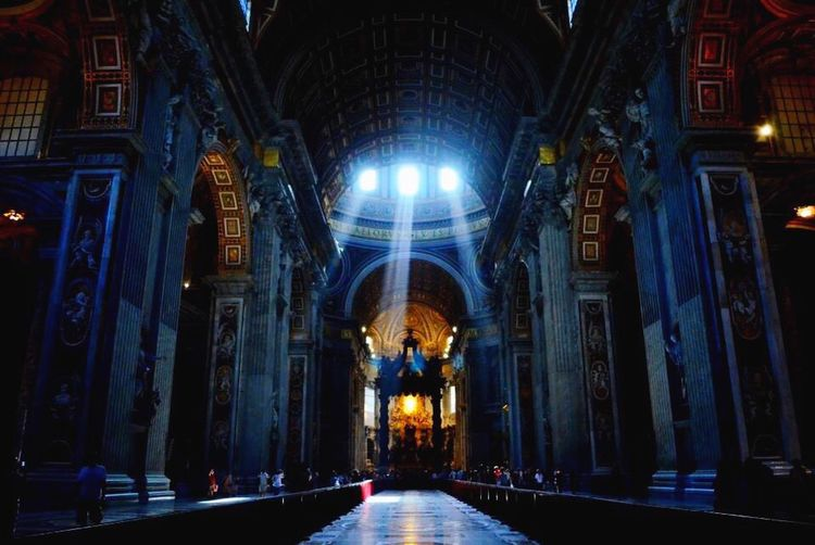 Inside the smallest country and the largest church in the world. St.Peters Basilica VaticanCity Holylight The Traveler - 2015 EyeEm Awards