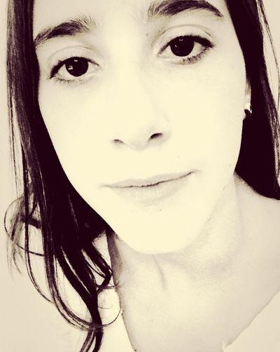 Portrait High Key Monochrome Young Woman