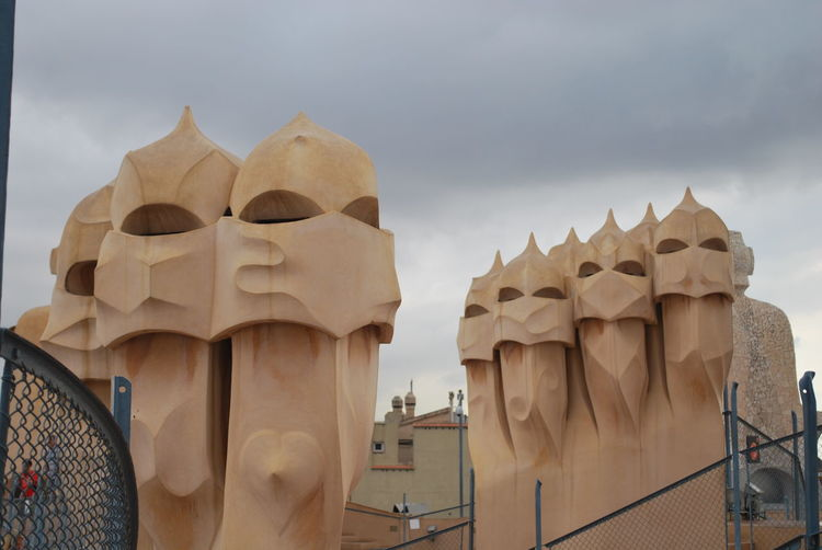 Architecture Barcelona Barcelona, Spain Built Structure Casa Mila ( La Pedrera ) Casa Milà Gaudì Day Gaudi No People Outdoors Roof Rooftop Sky SPAIN