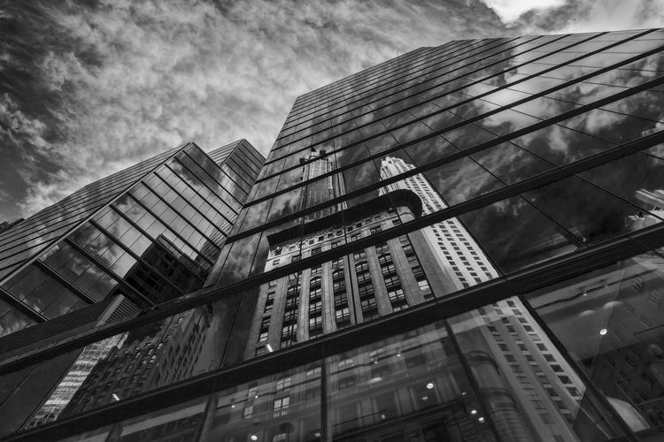 Midtown Office Buildings Architecture Perspective Modern Architecure Reflective Architetcure Glass Architecture Reflections Black And White Building Exterior Reflection Skyscraper Office Building Exterior