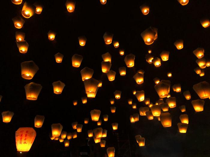 Lantern festival Lantern Lantern Festival Lanternfestival Chinese New Year Taiwan Shifen Pingxi Make A Wish Festival Yellow Paper Lantern Abundance Celebration Glowing Traditional Festival