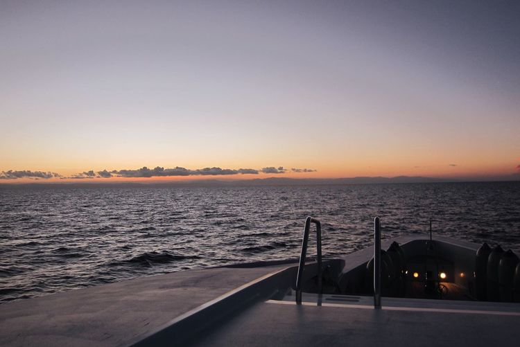 Sunlight Sunset Sea Scenics Water Tranquil Scene Tranquility Beauty In Nature Clear Sky Nature Horizon Over Water Idyllic No People Sky Outdoors Yacht