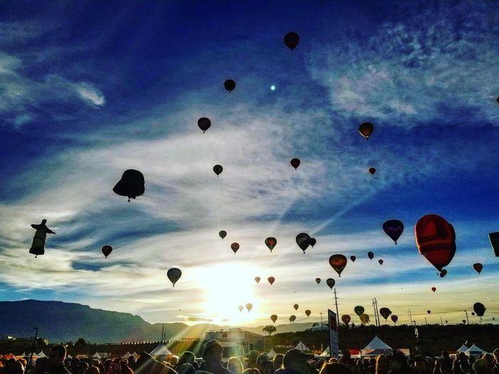 Sunrise in Albuquerque, New Mexico