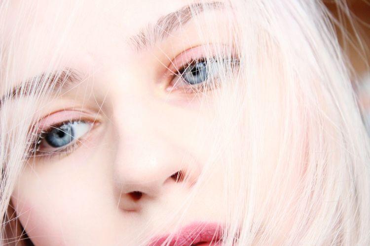 Close-Up Of Beautiful Blond Woman