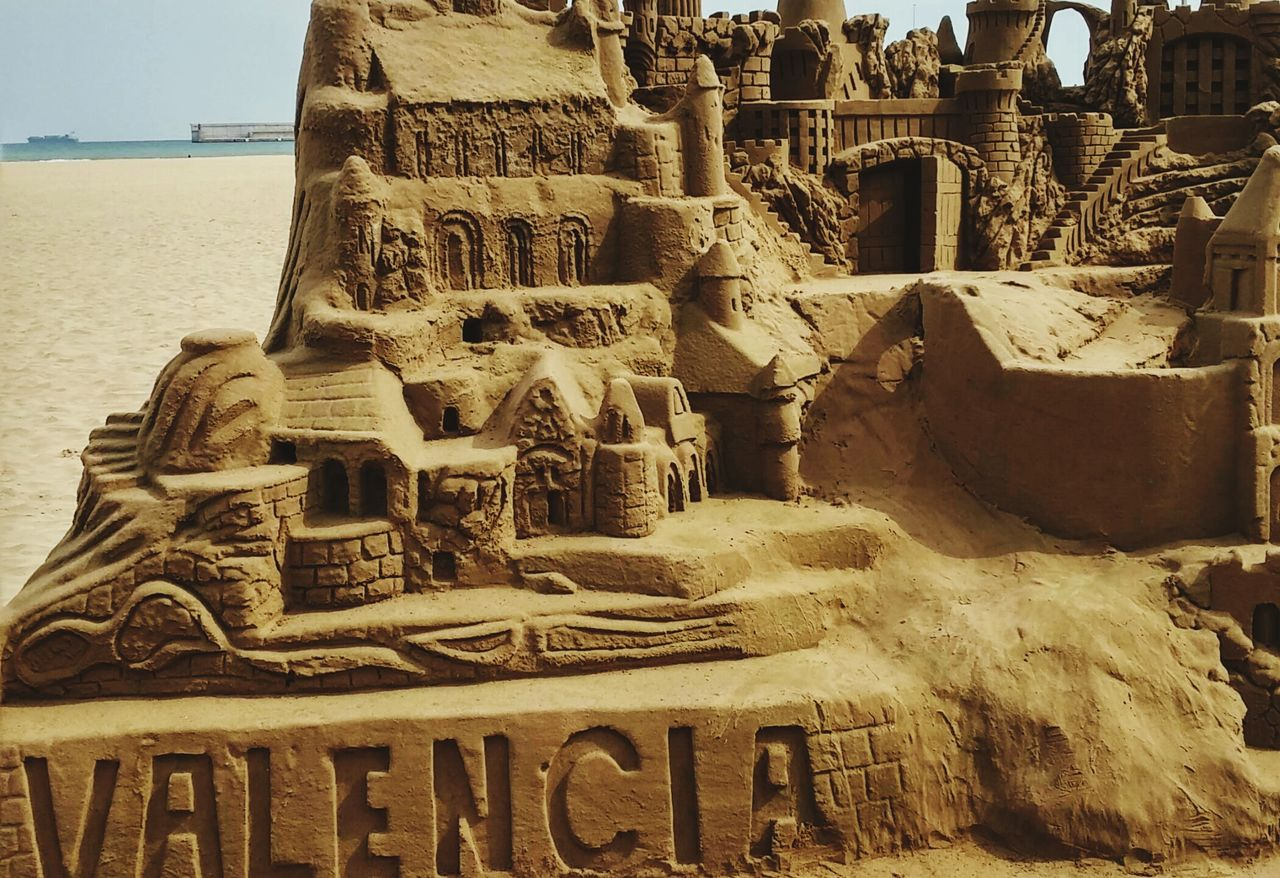 Close-Up Of Sandcastle