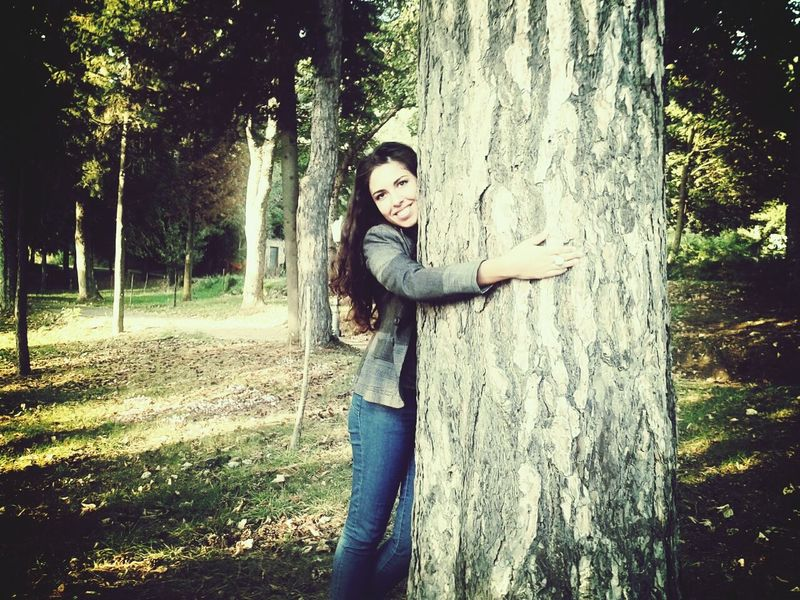 Hugging A Tree Enjoying Life Portrait That's Me