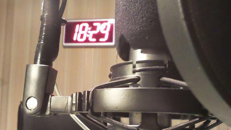 Time to broadcast... Radio Radio Sandviken Studio Microphone 29 Past 6