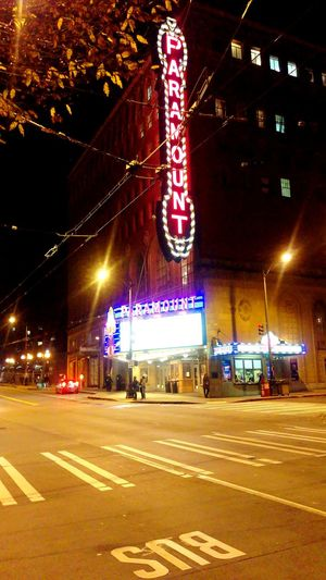 Show Night Night City Illuminated Neon Architecture Nightlife Nightlifephotography Seattle Outdoors City Life Paramount  Marquee Theater