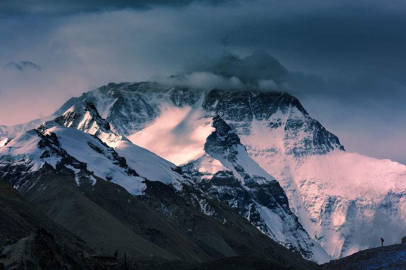 Mountain Everest Beauty In Nature Cloud - Sky Cold Temperature Everest Base Camp Extreme Weather Glacier Landscape Mountain Mountain Range Mt Everest Nature No People Non-urban Scene Outdoors Peak Physical Geography Power In Nature Scenics Snow Snowcapped Mountain Sunrise Tranquil Scene Weather Winter