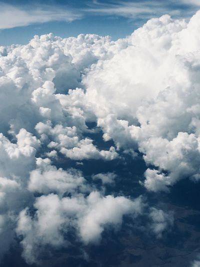 Clouds from above Cloudscape Clouds Clouds And Sky Cloud - Sky Sky Beauty In Nature Scenics - Nature Tranquility Tranquil Scene Nature Fluffy Aerial View