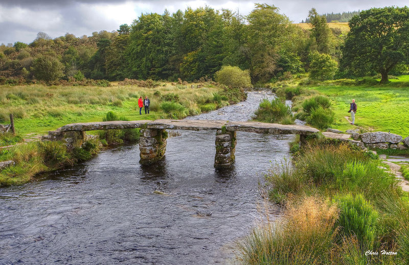 The Clapper Bridge at Postbridge in Devon is believed to have been built in the 13th century and crosses the East Dart River on Dartmoor. Dartmoor Devon East Dart River Medeibvi Beauty In Nature Bridge Clapper Bridge Landscape Outdoors River Scenics Tranquil Scene Tranquility Water