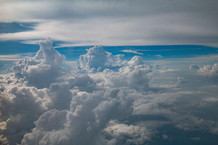 Beauty In Nature Blue Cloud - Sky Cloudscape Flight Nature Scenics Sky Sky Only