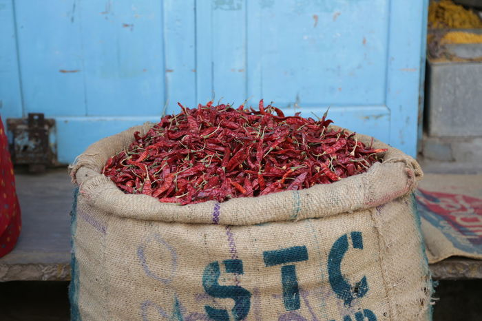 Chillies Chillies Red Close-up Day Dried Dried Food Focus On Foreground Food Food And Drink For Sale Freshness Healthy Eating Jute Market Stall No People Red Red Chili Pepper Retail Display Sack Spice Still Life Textile