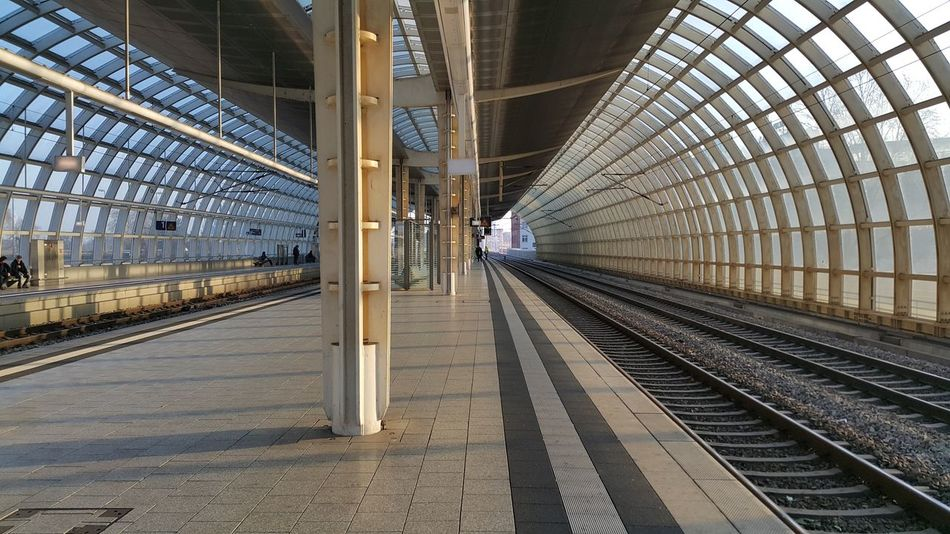 On My Way To Work Morning Morning Light Train Station Sunlight City Life Transportation Railroad Track Rail Transportation Railroad Station Public Transportation Railroad Station Platform Mode Of Transport City Architecture Train - Vehicle Day No People
