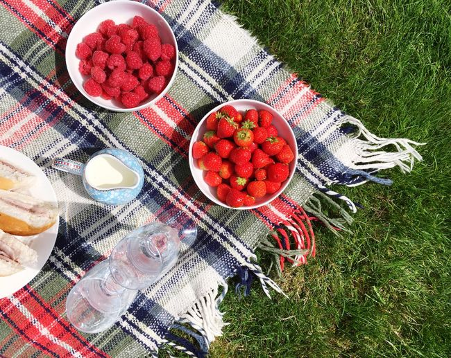 Picnic Picnic Picnic Time ♡ Picnicking Picnicday Food Foodphotography Food And Drink Raspberries Strawberries Fruit Fruits Freshness Outdoors No People Day Red Green Large Group Of Objects Fresh Produce Fresh