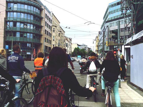 Red Light Biking Stop Street Lights Bikers Berlin Berlin Mitte